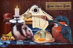 Friendship - friendship, food, mouse, bird, breakfast Bird Wallpaper, Friendship, Birds, Breakfast, Painting, Food, Art, Morning Coffee, Art Background