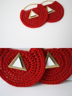 Image of RESERVED for R.R. Delta Sigma Theta crochet earring