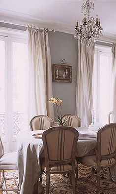Chic, sophisticated dining.  European Elegance...