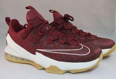 Nike LeBron James XIII 13 Low Team Red Sail Black Gum M sz 9.5 NIB #Nike #AthleticSneakers