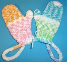 BRACELET MITTENS /student sizing KNIT-HANG MITTENS FROM WRIST WHEN NOT IN USE. #Handmade #Mittens