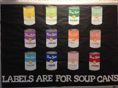 Diversity Awareness Bulletin Board. Labels Are For Soup Cans. Created by Janet Barnes