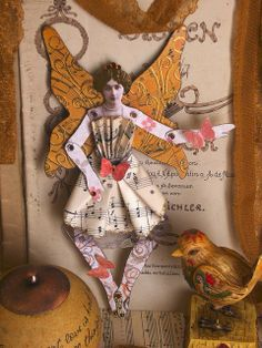 Altered Art doll - Christine by JuliaPeculiart, via Flickr