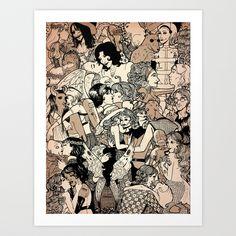 Strange Love Art Print by Megan Gedris   Society6