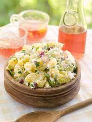 Salade de pommes de terre une recette de salade idéale pour les vacances, pique nique et barbecue