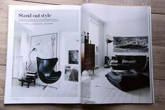 a fashion designer´s apartment in a Danish village (from ELLE Decoration)