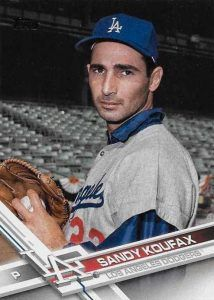 2017 Topps Series 2 - The Dodgers Variation Cards - Sandy Koufax SSP Legends Variation Dodgers Fan, Dodgers Baseball, Sandy Koufax, Baseball Park, Dodger Blue, Better Baseball, Go Blue, Los Angeles Dodgers, Trading Cards