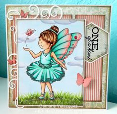 Scrap Happy Ohio DT card - Ballerina Butterfly Copic coloring