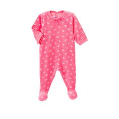 Baby Girl Terry Crawler In Cherry Print | Petit Bateau US Official Online Store
