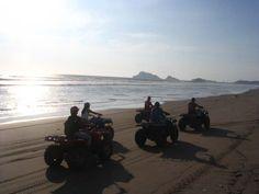 ATV'ing on the beach