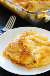 Cheesy Scalloped Potatoes   High Heels and Grills