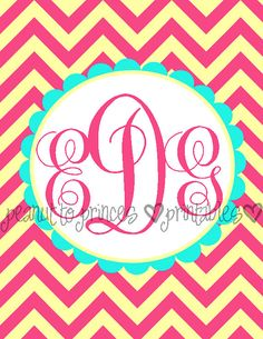 Monogramed Binder Covers