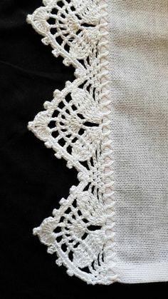 66 ideas for crochet edging lace pattern Crochet Edging Patterns, Crochet Lace Edging, Crochet Motifs, Crochet Borders, Crochet Trim, Filet Crochet, Irish Crochet, Crochet Designs, Crochet Doilies