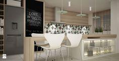 APARTAMENT W KRAKOWIE - Średnia otwarta kuchnia jednorzędowa z wyspą, styl skandynawski - zdjęcie od kilandesign