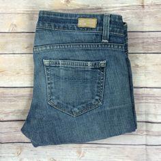 """Paige jeans Paige jeans blue heights Sz 26 inseam 31"""" rise 7"""" 98% cotton 2% spandex Paige Jeans Jeans Straight Leg"""