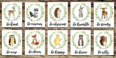 **SIMPLY SELECT HOW MANY ANIMALS YOU WOULD LIKE, AND THEN SPECIFY IN NOTES TO SELLER WHICH ANIMALS YOU WANT***! 10 sweet and tender woodland animal awaiting to come to your home! | FOX | DEER | RACOON | OWL | BEAR | BUNNY | HEDGEHOG | DUCK | MOOSE | SQUIRREL Be Clever ❧ Be Kind ❧ Be