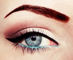 add a tiny pop of turquoise on the inner rim of eyes to make them stand out