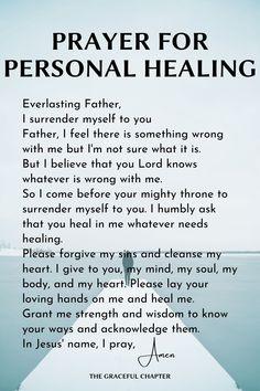 Short Prayer For Healing, Prayer For Guidance, Prayer For Health, Prayer For Protection, Healing Scriptures, Prayers For Healing, Prayer Scriptures, Bible Prayers, Catholic Prayers