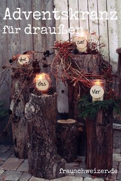 Advent wreath for outdoors 2018 - Ms. Schweizer - Advent wreath for outdoors, celebrate outdoor advent. Decoration on the doorstep. Advent wreath for - Wreath Boxes, Diy Wreath, Door Wreaths, Advent Wreaths, Outdoor Hammock, Diy Advent Calendar, Advent Calendars, Exterior, Decoration Table