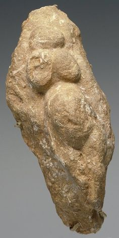 Venus figure, Paleolithic, c. 20,000B.C., Sandstone.  Found: France