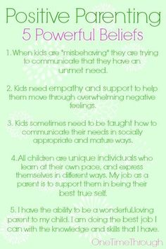 5 Powerful Positive Parenting Beliefs #ToxicParenting