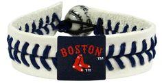 Boston Red Sox - Boston And Sox Logo Genuine Baseball Bracelet