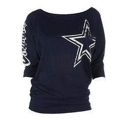 Dallas cowboys dolman tee - women Featuring dolman sleeves and a soft jersey construction, this women's Dallas Cowboys tee keeps you comfortable as you cheer on your team. Dallas Cowboys Outfits, Dallas Cowboys Women, Cowboy Outfits, Dallas Cowboys Football, Cowboys 4, Pittsburgh Steelers, Cowboys Gifts, Football Things, Cowboy Shoes