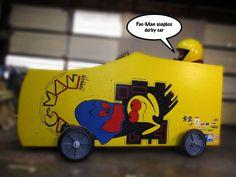 pac man machine soap box derby car Soap Box Derby Cars, Soap Box Cars, Soap Boxes, Kids Ride On, Diy Car, Inspiration For Kids, Racing, Make It Yourself, Creative