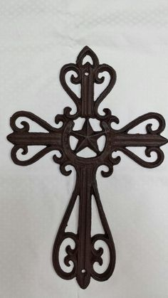 Cast Iron Cross Wall Hanging By Countrygooseboutique On Etsy 15 00