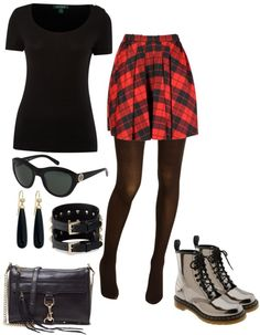 """Rocker girl"" by jpschwartz on Polyvore. Reminds me of how I dressed in high school!"