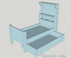 Learn how to make American Girl Bouquet Bed for your dolls! This craft's step by step plans are easy to follow! Your dolls are going to love this bed!