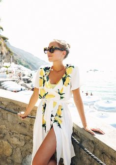 White lemon dress by the beach Wanderlust Travel, Capri, Vogue, Summer Outfits, Summer Dresses, Mellow Yellow, Boho, Spring Summer Fashion, Summer Chic
