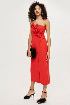 79a802ba0ec Red Bandeau Jumpsuit - Occasionwear - Clothing