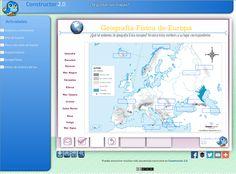 ¿Te gustan los mapas? Secuencia de actividades realizada con Constructor 2.0 para trabajar la Geografía física y política.