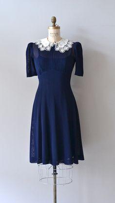 Good Fortune dress / vintage 1930s dress / blue by DearGolden