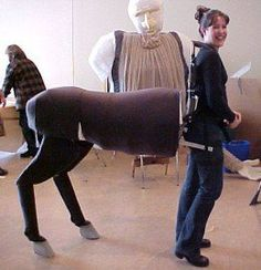 Look at these amazing centaur costumes! Some with fur, or moving legs, or centaur in armor or fully clothed!