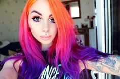 "270 Likes, 17 Comments - M A Y P E T I T E (@maypetite) on Instagram: ""Switched up the hair colour, of course using @arcticfoxhaircolor I used Sunset Orange, Virgin Pink…"""