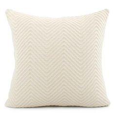 a8d89a0c6c65 A stunning cream chevron knit throw pillow can be mixed and layered to add  chunky texture. Chloe & Olive