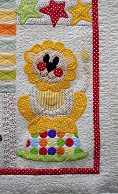 I have recently quilted this Toy Time Circus Quilt  for my customer Mrs Hope.  The quilt was made for her grandchild's first birthday and sh...