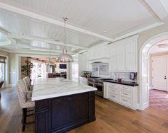 Sleek Modern Kitchen Design Marble Countertop Port Chelsea House