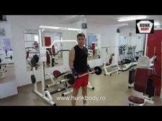 http://www.hunkbody.ro - Exercitii pentru biceps – Flexii cu bara Z