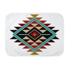 Native Style Rainbow Sunburst Baby Blanket