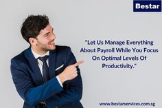 As one of the best Payroll Services providers, Bestar Services assure you professional administration of all tasks, full client confidentiality and overall consistency in our deliverables. Accounting Services, Consistency, Singapore, Entrepreneur, Let It Be, Business, Store, Business Illustration