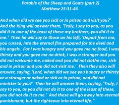 Parable of the Sheep and Goats (part 2) - Matthew 25:31-46