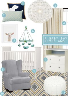 Decor-Eat: hump day home makeover / the nursery files #2