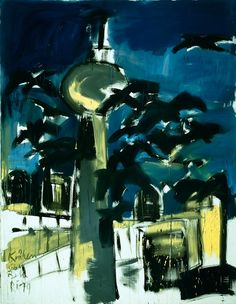 Crows Over Berlin am Meer, 1979 dispersion on canvas, 270 x 210 cm; Privately owned. © 2011 Rainer Fetting