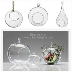 Esfera colgante de cristal, lágrima para colgar de cristal, bolas de cristal originales para flores, plantas, velas y decoración floral