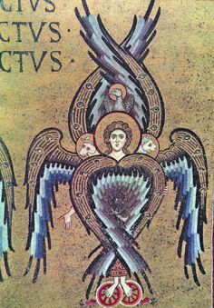 Monreale Seraphim, 12th Century Roman Mosaic, Sicily