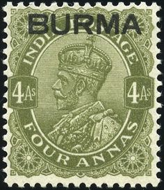 King George VI Burma 1937 King George, Postage Stamps, Indie, Commonwealth, Colonial, British, Collections, Green, Color