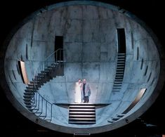 Scene from Tristan and Isolde at Lyon Opera, France, 2011